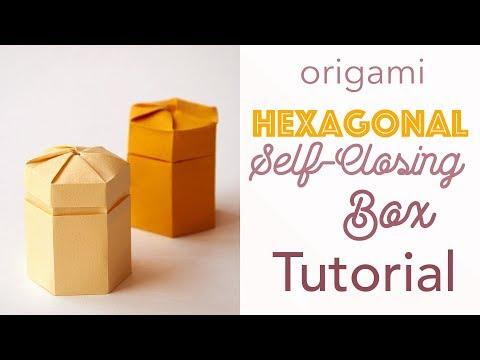 Self Closing Origami Twist Hexagonal Box Tutorial