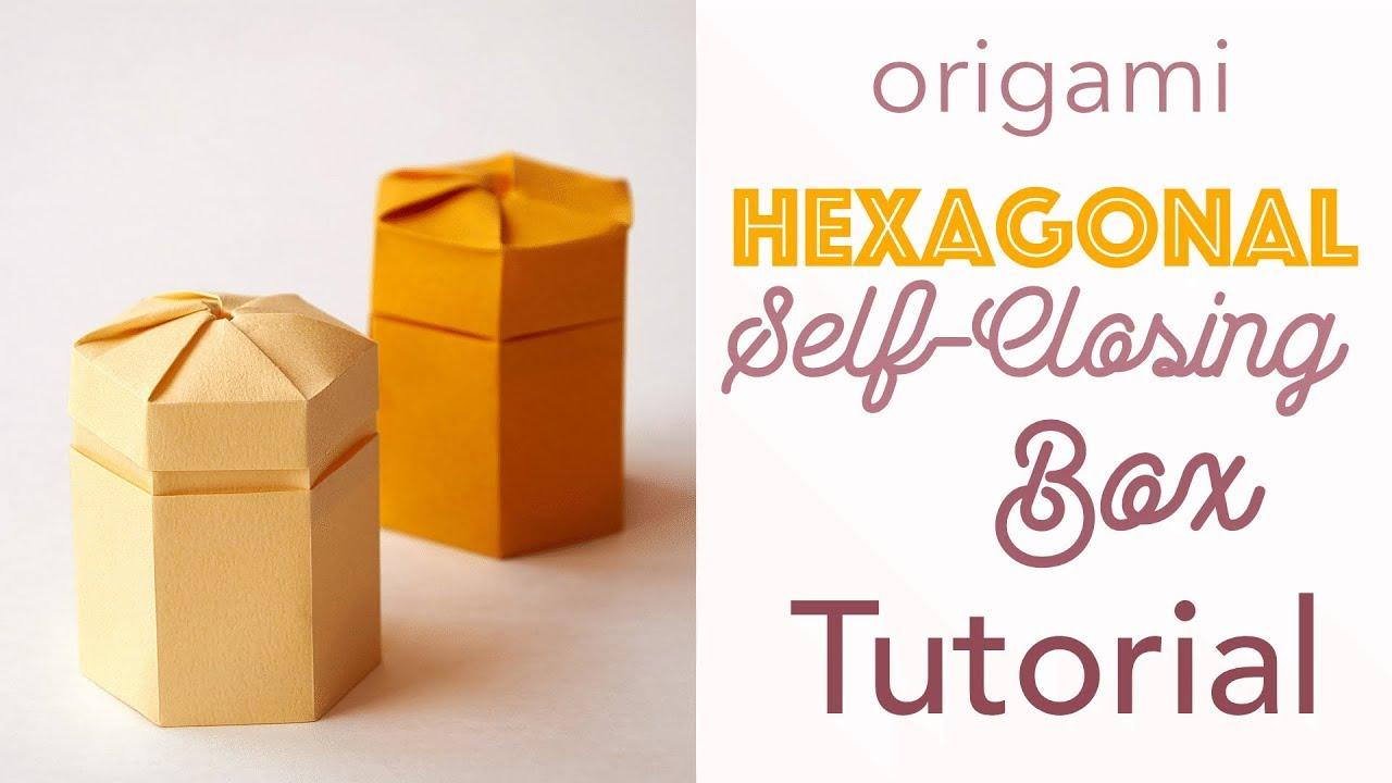 Hexagon Gift Box Origami - Easy Craft - YouTube | 720x1280
