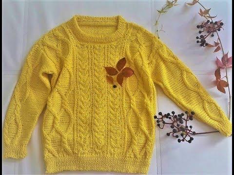 Джемпер детский на 5 лет, рост 110см.Вязание  спицами Crochet And Knitting