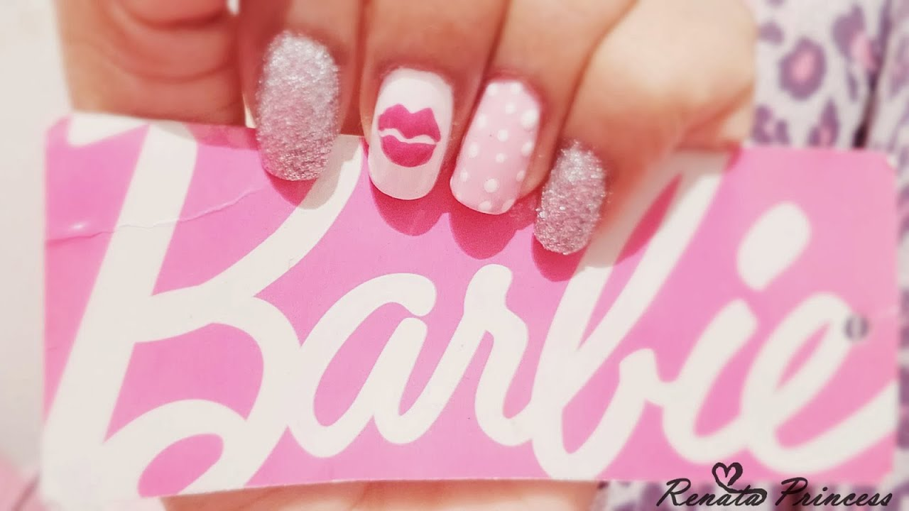 Decoraciones De Uñas Con Esmalte Decorado De Uñas De Barbie Con Esmalte Youtube