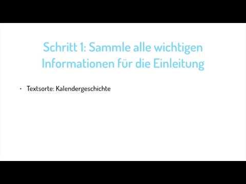 Wie Du Die Einleitung Einer Inhaltsangabe Schreibst Deutsch 7