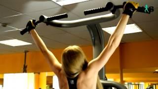 Подтягивания в гравитроне. Мощное упражнеие для красивой спины