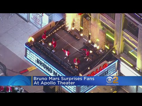 Bruno Mars Surprises Fans At Apollo Theater