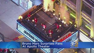 Bruno Mars Surprises Fans At Apollo Theater