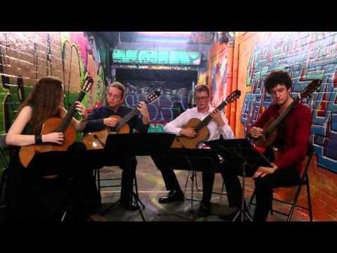 Brisbane Guitar Quartet, Live @ Paint It Red