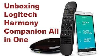 Unboxing Logitech Harmony Companion All in One Remote Control