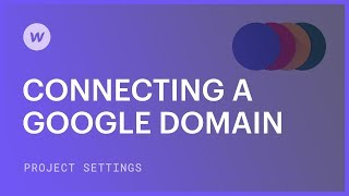 Connecting a Google domain