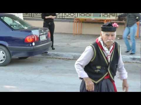 papa ouzo dance flash mob afandou rhodes  2012