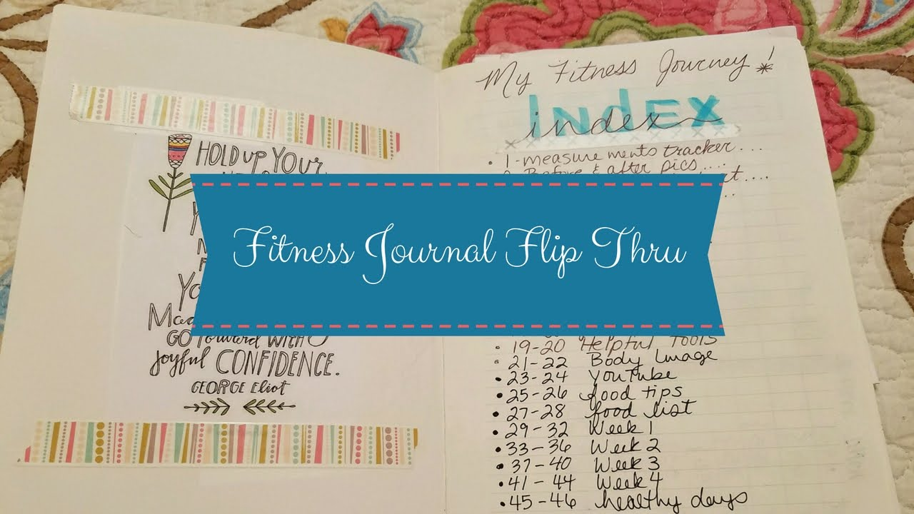 my fitness bullet journal how i keep track of my journey youtube