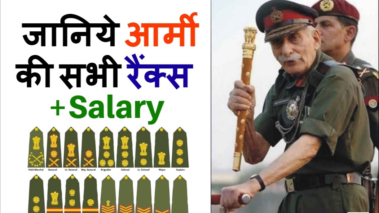 Army Ranks in India + Salary part 1