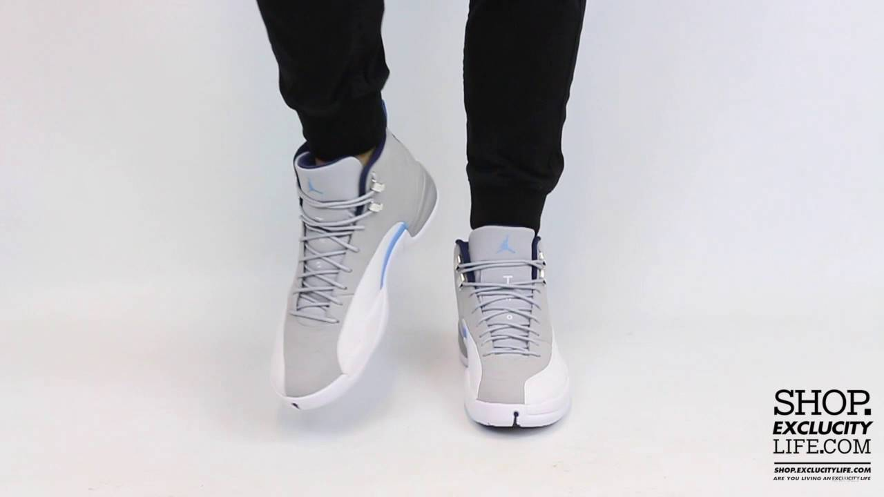 52ce3ec7534bb9 ... wolf grey university blue 5f6d2 1bd8a  where can i buy air jordan 12  retro unc on feet video at exclucity youtube 3c631