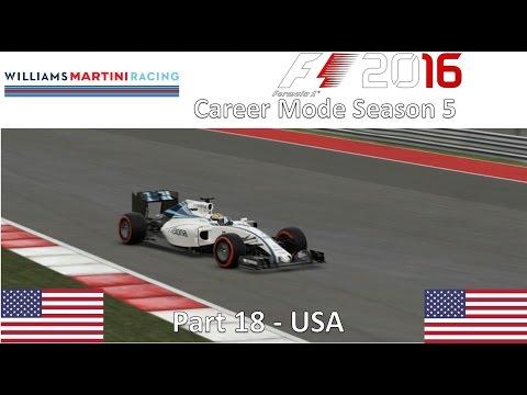 F1 2016 Career Mode Season 5 Part 18 - USA (Live Race)