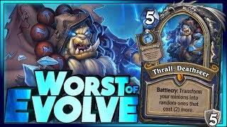 WORST EVOLVE  - Hearthstone - Frozen Throne WTF Funny and lucky Rng Moments