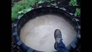 Детский бассейн из колеса погрузчика своими руками(Как сделать бассейн из покрышки своими руками., 2016-07-08T05:08:14.000Z)