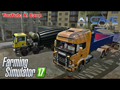 Farming Simulator 17 How to Make Concrete | Man Cement Mixer