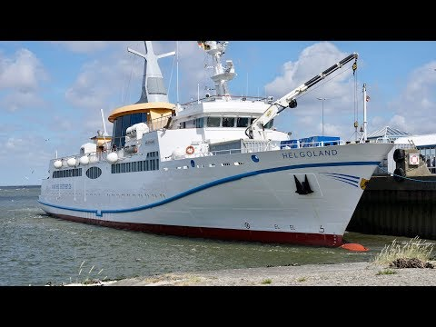 4K   Journey to High Sea Island HELGOLAND with MS Helgoland