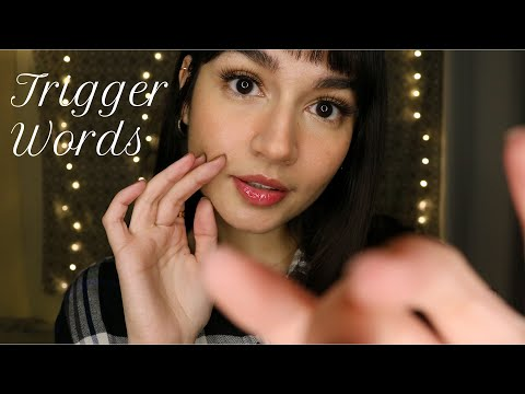 ASMR 60 ~Super Tingly~ Trigger Words (Mouth Sounds, Personal Attention, Hand Movements)