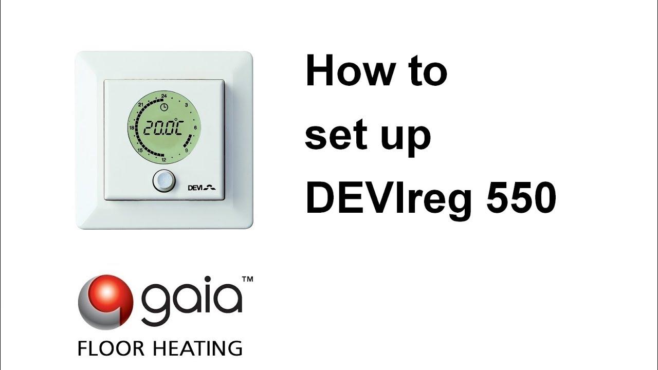 [DIAGRAM_3ER]  How to set up DEVIreg 550 - YouTube   Devi Underfloor Heating Wiring Diagram      YouTube