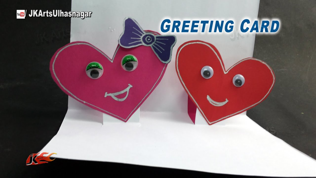 Diy Valentines Day Pop Up Greeting Card How To Make Jk Arts 911