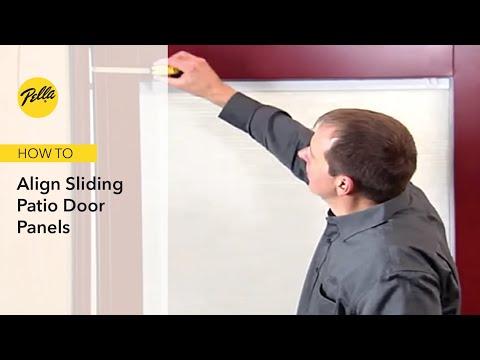 how to align sliding patio door panels