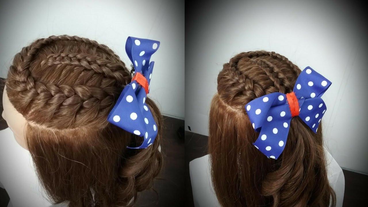 Peinado con trenzas para ni as diana rojas youtube - Peinados de ninas ...