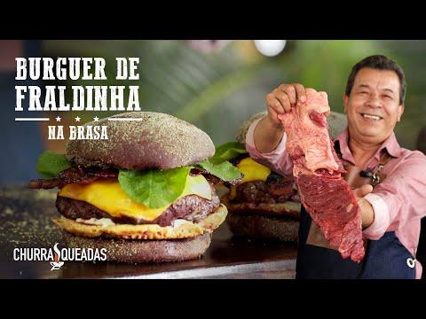 Hambúrguer de Fraldinha na Churrasqueira | Churrasqueadas