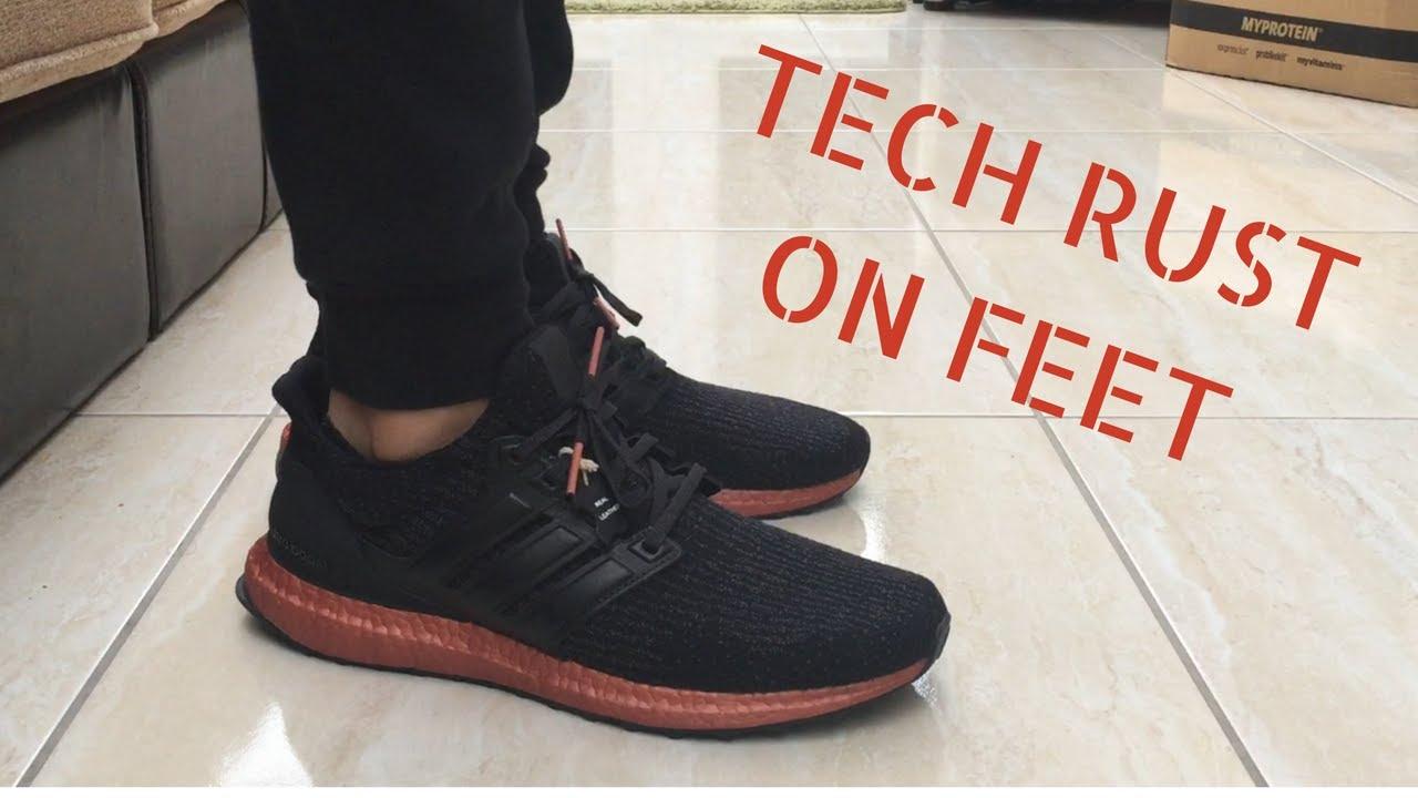 9b949b6866c25 Adidas Ultra Boost 3.0 - Tech Rust - Quick ON Feet - YouTube