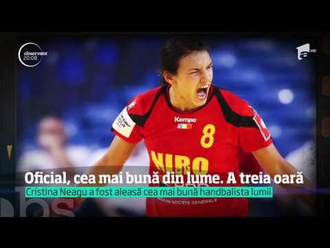 Cristina Neagu, cea mai bună handbalistă a lumii și prima care câştigă acest titlu de trei ori