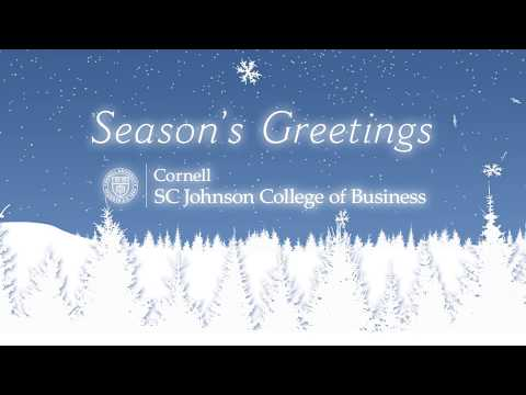 Cornell SC Johnson College of Business Holiday Card 2017