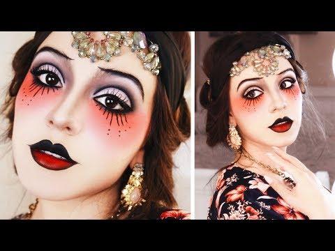 Traditional Tattoo Girl Halloween Tutorial!