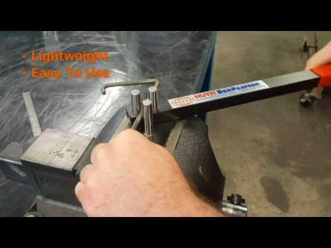"""EASY solution for bending up to 3/8"""" Rod or up to 1/4"""" x 1"""" flat stock brackets: Manual Rod Bender"""