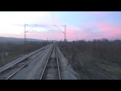 Train Driver's view: railroad in Serbia from Aleksinac to Adrovac - SERBIAN RAILWAYS