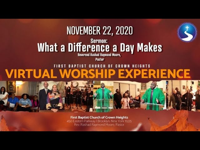November 22, 2020: Virtual Worship Service: Thanksgiving Sunday