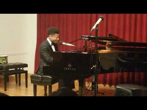 "16yr old Caleb Carroll sings Cover of ""You are so Beautiful"" for my 1st Piano Recital"