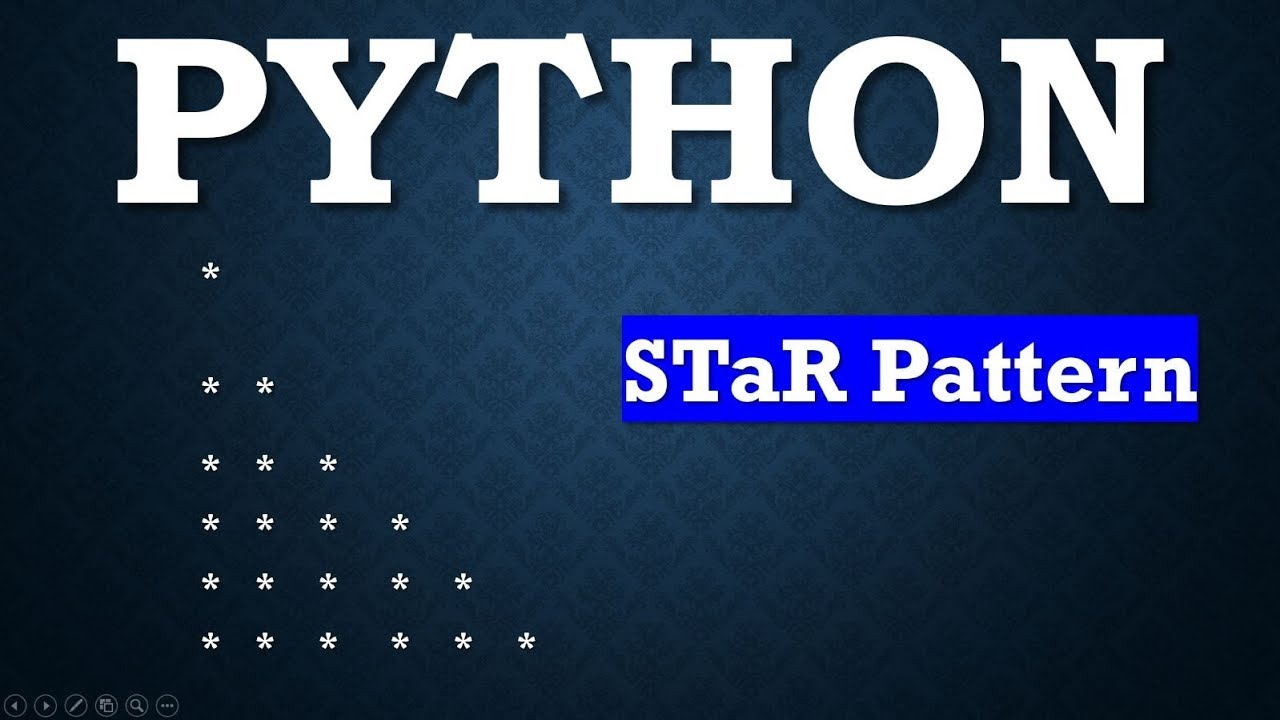 Python Pattern Programs - Printing Stars '*' in Right Angle