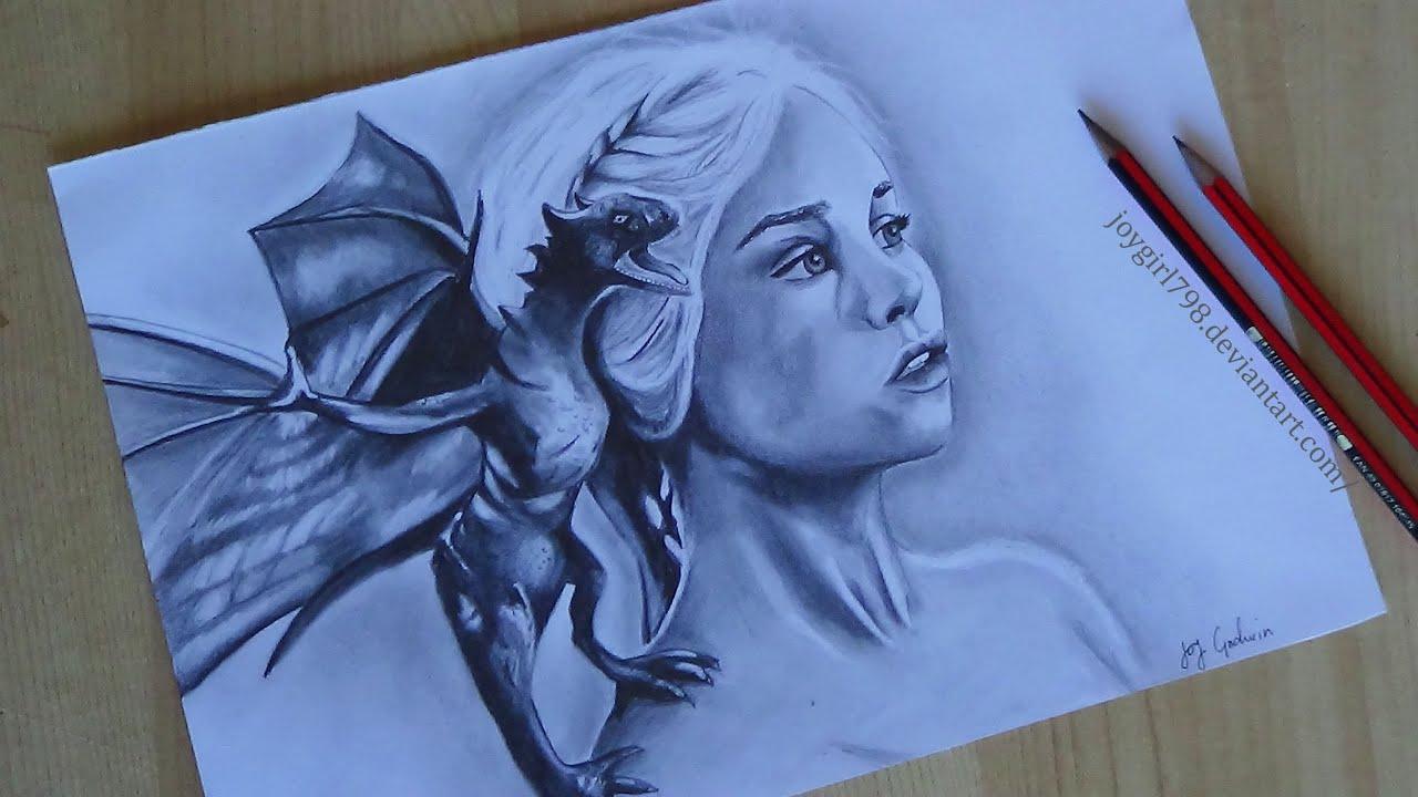 Drawing Daenerys Targaryen Game of Thrones: Emilia Clarke