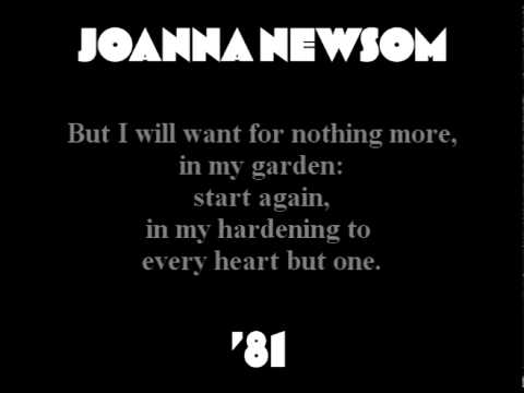 Joanna Newsom - '81 (with lyrics)