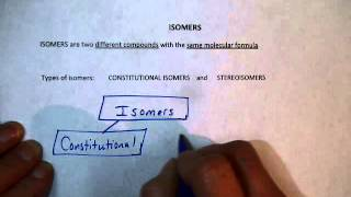 Introduction to Isomers