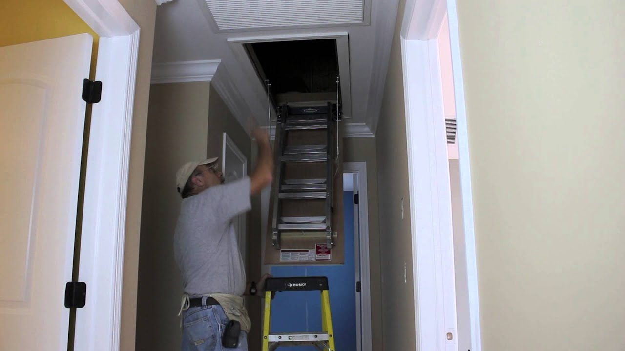 Easy Way To Install An Attic Door Youtube