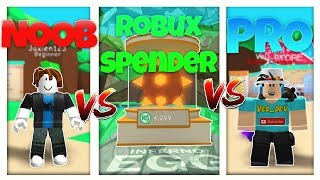 NOOB vs PRO vs ROBUX SPENDER - ROBLOX BUBBLE GUM SIMULATOR VERSION! *FUNNY*