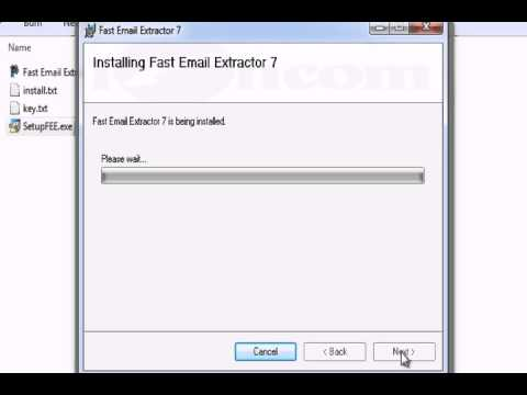 fast email extractor 7 registration key