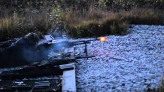 Testing prototype silencer for FN MAG GPMG