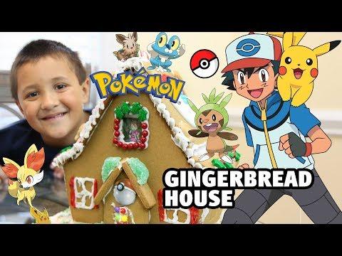 Pokémon Gingerbread House Building W  Skylander Boy And Girl And Lightcore Chase Timelapse