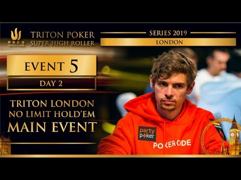 Triton London 2019 - Triton London NLH Main Event £100K - Day 2