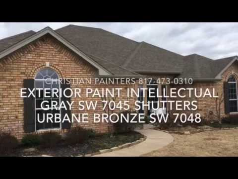 Exterior Paint Intellectual Gray Sw 7045 Shutters Urbane