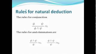 FMCS - Propositional logic and rules of natural deduction