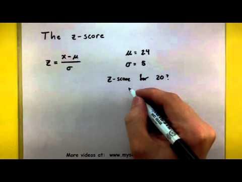 Statistics - Find the z score