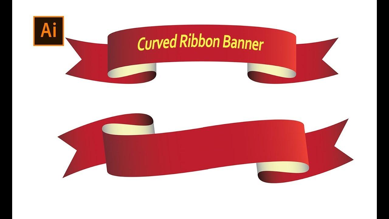 Curved Ribbon Banner | Adobe Illustrator Tutorial | Graphic Design
