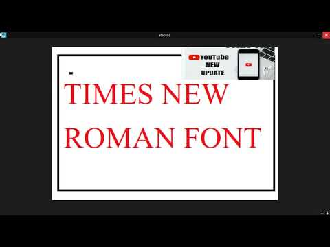 How To Change The Default Font In Microsoft Word From Calibri 12 To Time New Roman Size