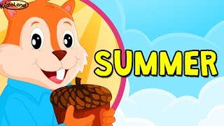 Summer season song for kids | seasons song for kids | summer weather for kids with KidloLand